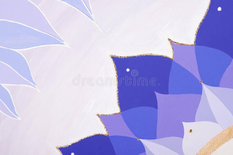 Абстрактным покрашенная пурпуром мандала изображения  иллюстрация штока