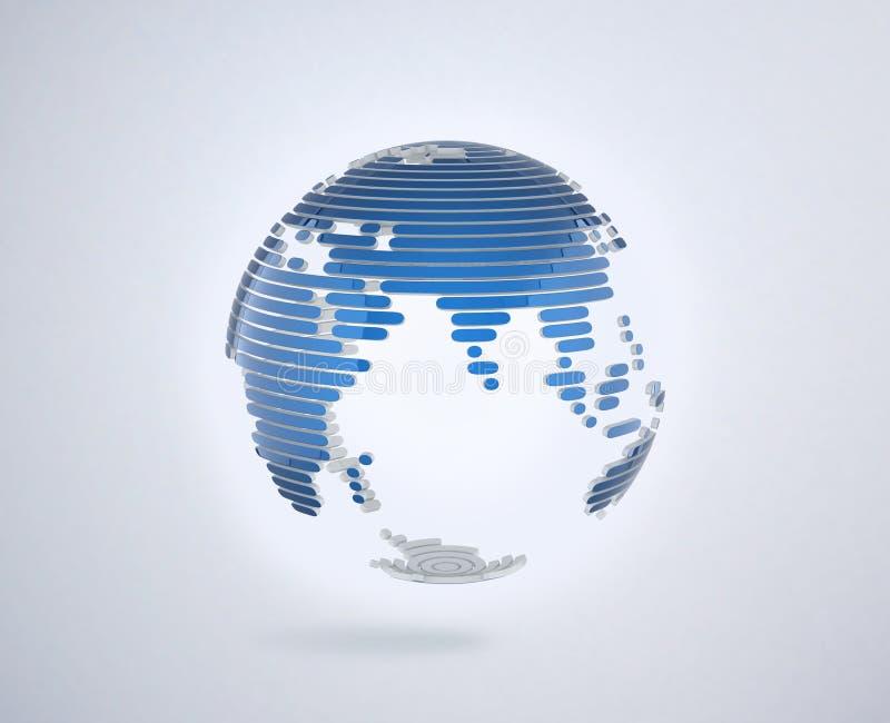 Абстрактным прозрачным иллюстрация 3d изолированная глобусом бесплатная иллюстрация