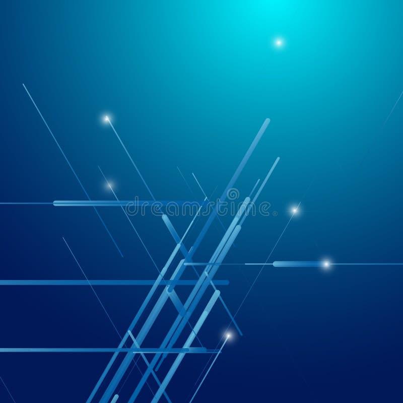 Абстрактным равновеликим светокопия 3D произведенная компьютером иллюстрация вектора