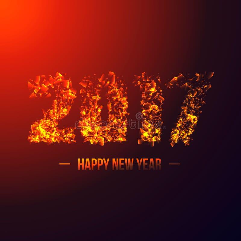 2017 абстрактных численных Новый Год принципиальной схемы иллюстрация штока