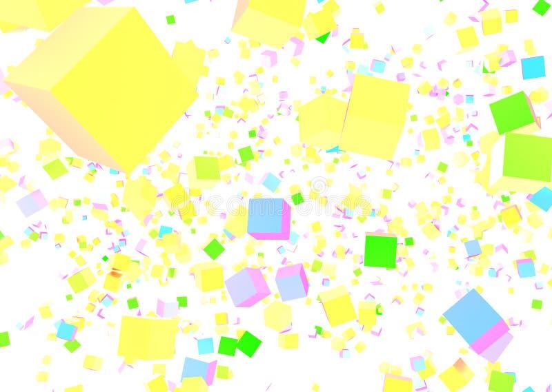 Абстракция от кубов других цветов стоковые изображения rf