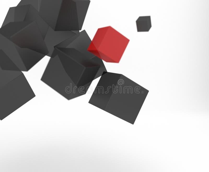 Абстракция от серых кубов стоковые фотографии rf