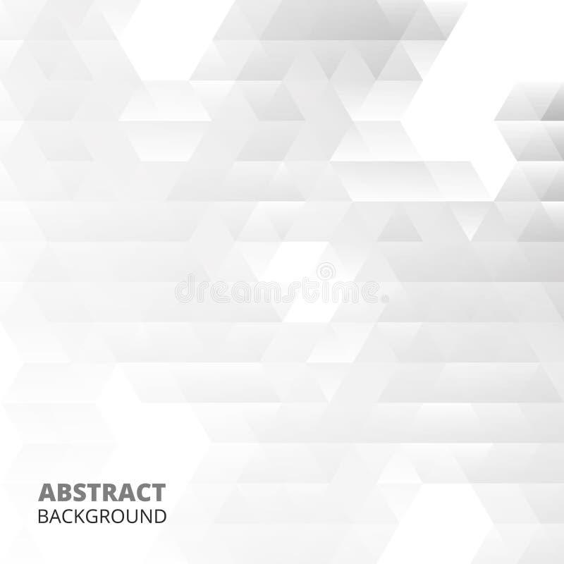 Абстракция современных картин треугольника в бело-серой предпосылке бесплатная иллюстрация