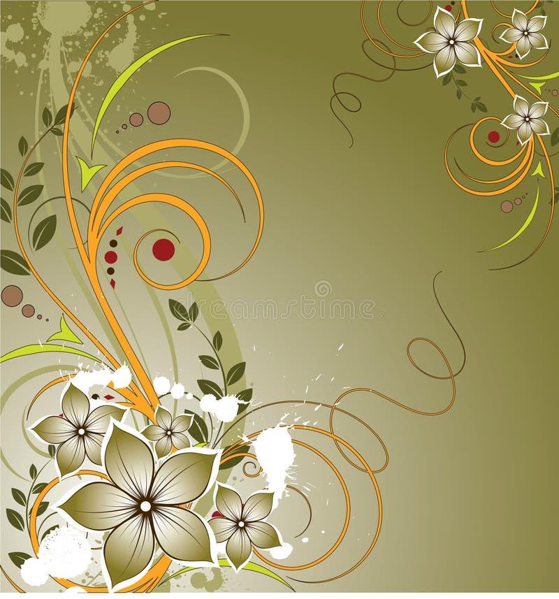Download абстракция флористическая иллюстрация вектора. иллюстрации насчитывающей конструкция - 6862963