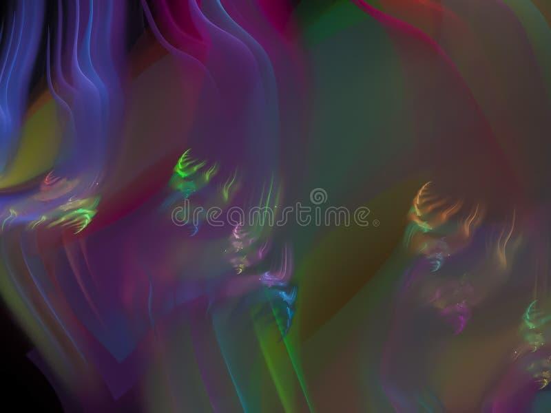 Абстракция фрактали, будущая предпосылка хаоса силы фантазии орнамента художественного стиля элемента пламени, красивый дизайн ди бесплатная иллюстрация
