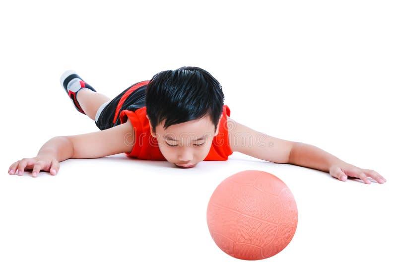 Аварии в спорт Ребенок в прональном положении обморочном с ба стоковые фотографии rf
