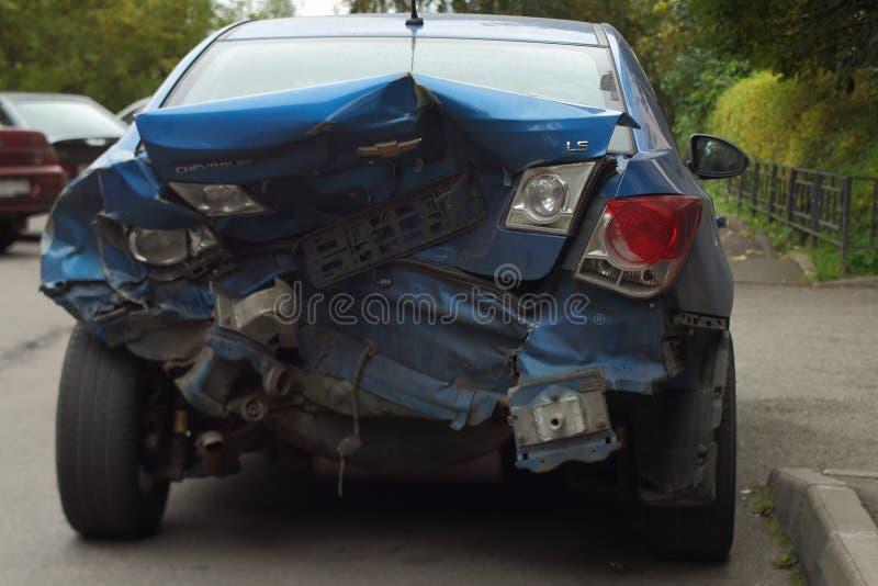 Аварийное торможение аварии стоковая фотография rf