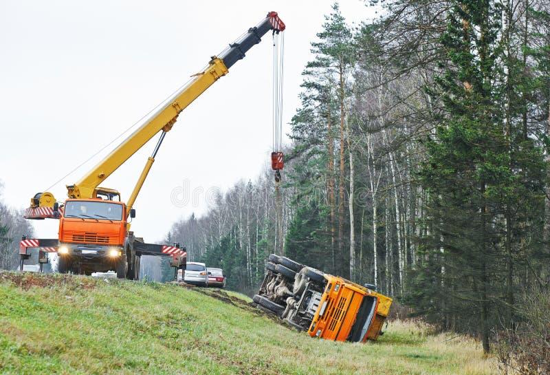 Авария автокатастрофы грузовика стоковая фотография
