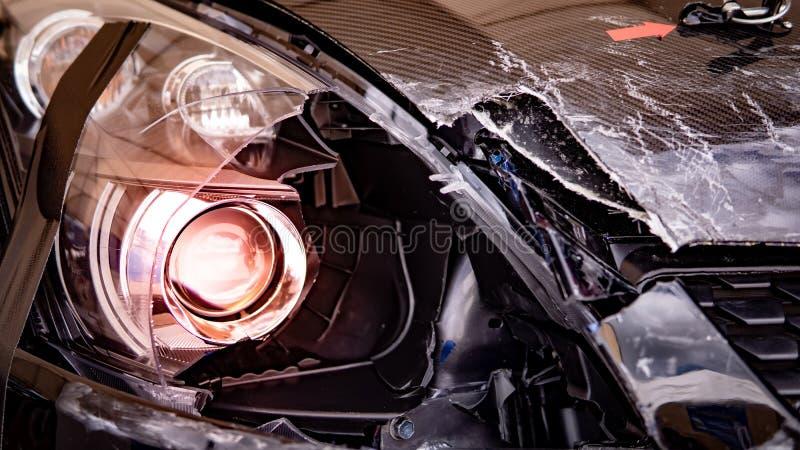 Авария автокатастрофы на дороге Автострахование стоковое фото rf