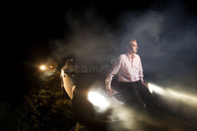 Авария в ноче стоковые фото