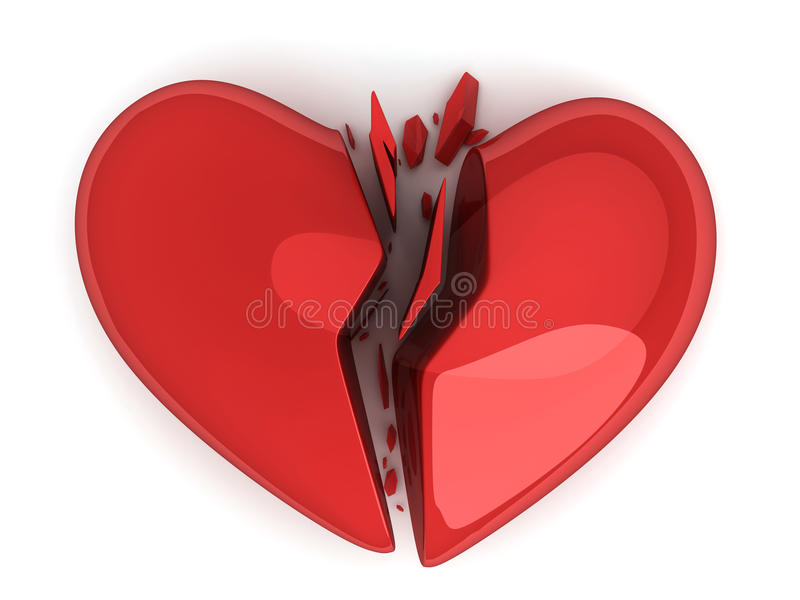 Авария сердца иллюстрация штока