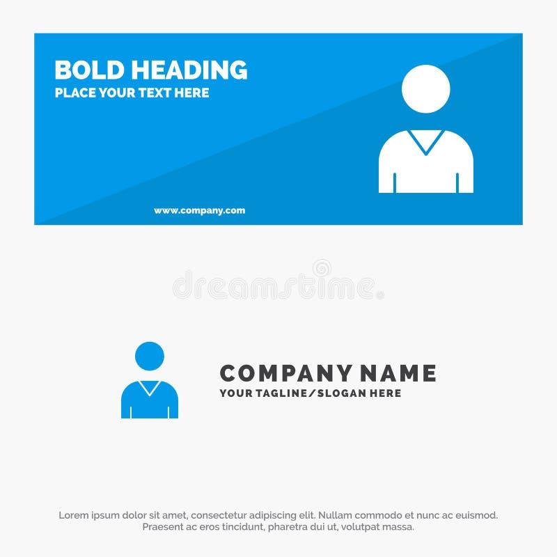 Аватар, интерфейс, баннер веб-сайта SOlid Icon и шаблон бизнес-логотипа иллюстрация штока