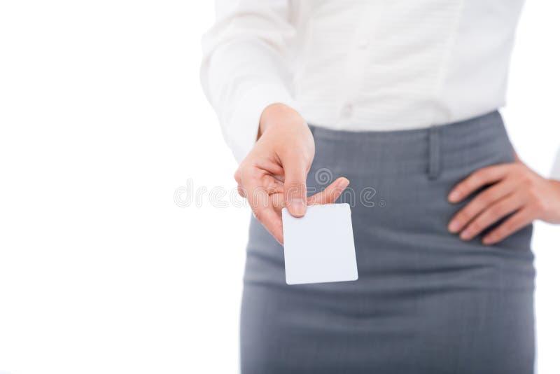 давать визитной карточки стоковое фото