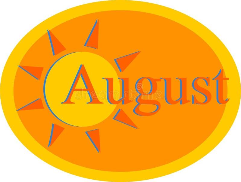 августовско иллюстрация вектора
