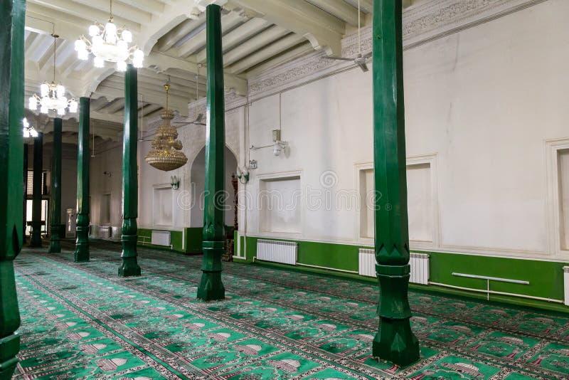 Август 2017, Кашгар, Синьцзян, Китай: интерьеры мечети Kah id, самые известные привлекательности в древнем городе Кашгара стоковая фотография