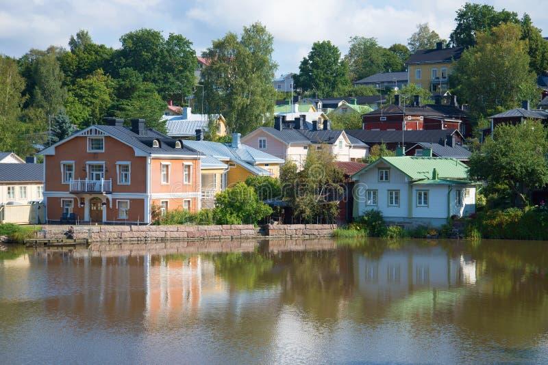 Август на реке Porvoyoki в Porvoo Финляндия стоковое фото rf