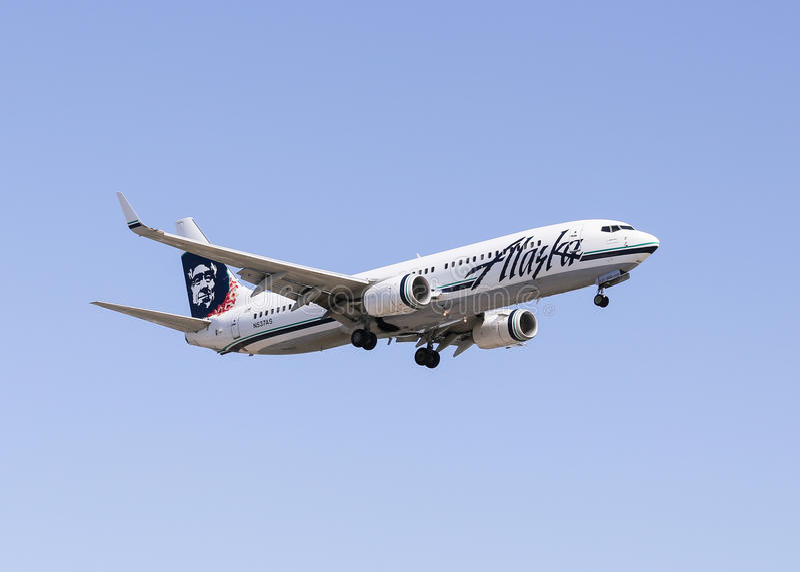 Авиакомпании Аляски стоковые изображения