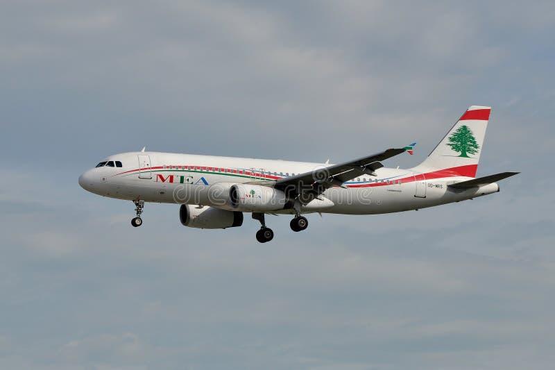 Авиакомпании Ближний Востока стоковое изображение rf
