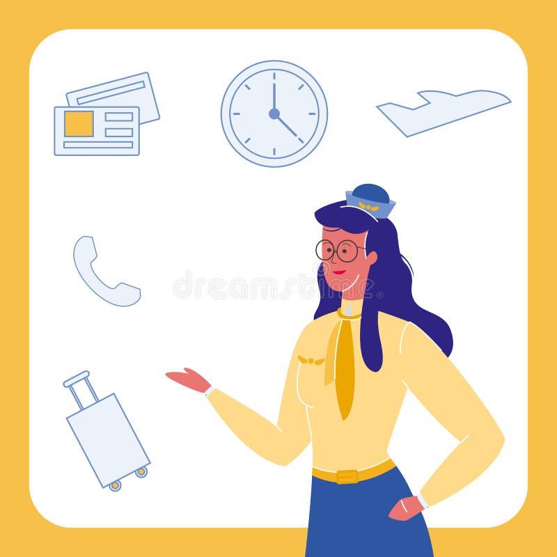 Авиакомпании, набор иллюстраций вектора символов перемещения бесплатная иллюстрация