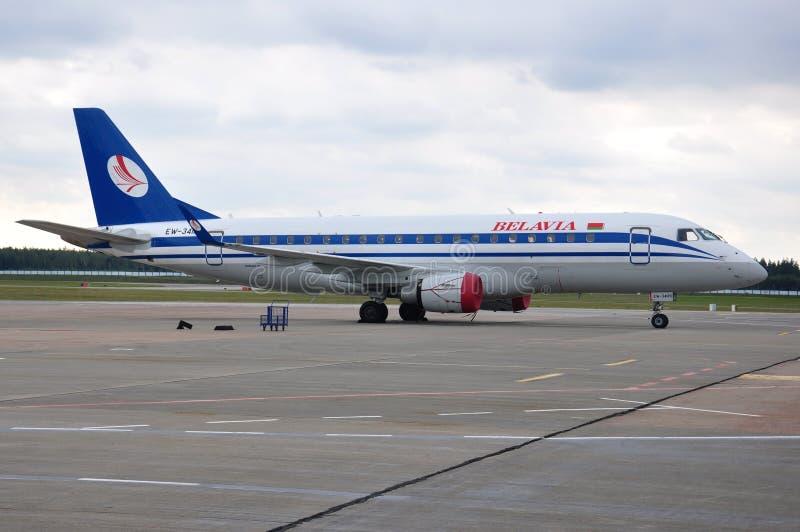Авиакомпании Belavia стоковое фото