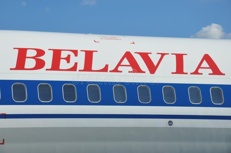 Авиакомпании Belavia стоковая фотография rf