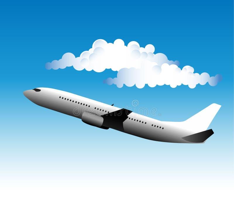 авиалайнер иллюстрация штока