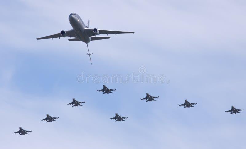 авиаотряд kdc образования f 10 16 голландецов стоковое фото rf