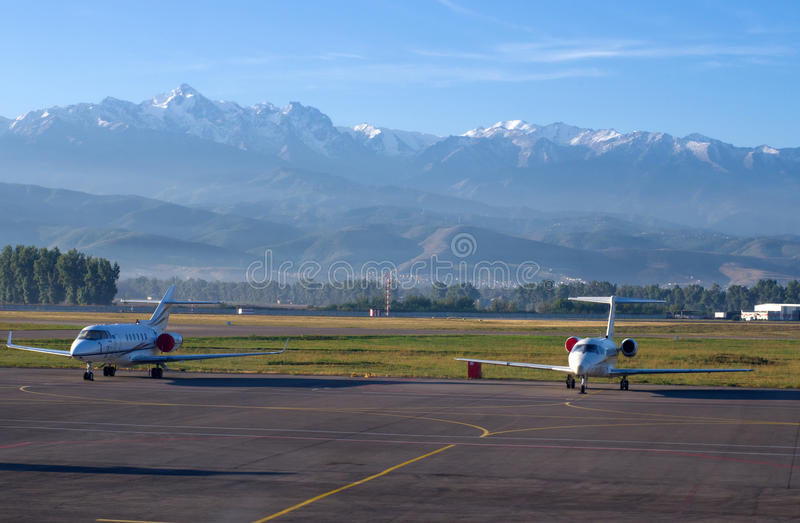 Авиапорт в Алма-Ате, Казахстан. стоковые фото
