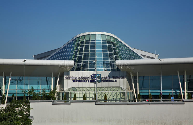 Авиапорт в городке Софии bulbed стоковое изображение rf