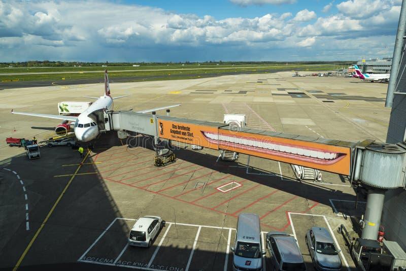 Авиапорт в Дюссельдорфе, Германия Дюссельдорфа стоковое фото