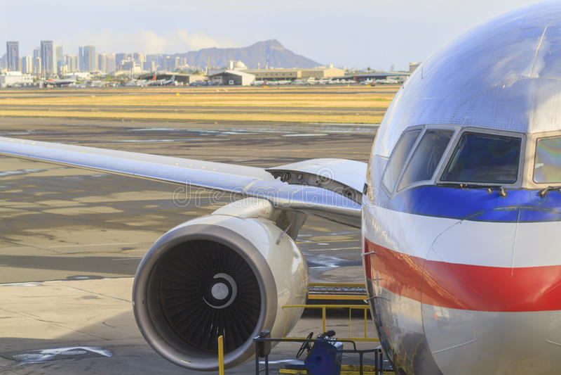 Авиапорт Гонолулу стоковые изображения