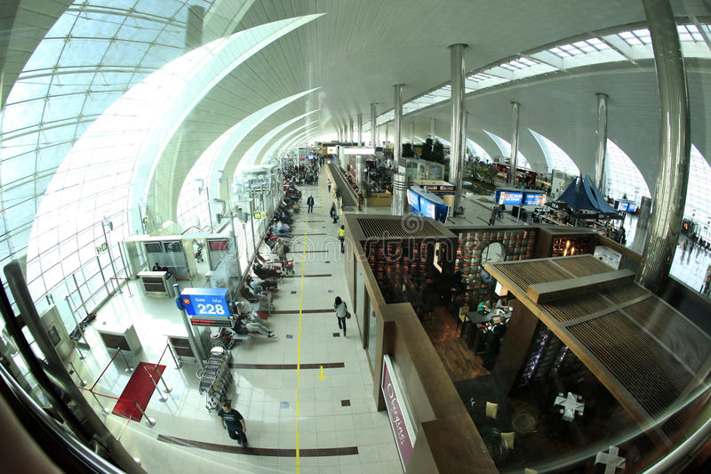Авиапорт Дубай стоковое изображение rf