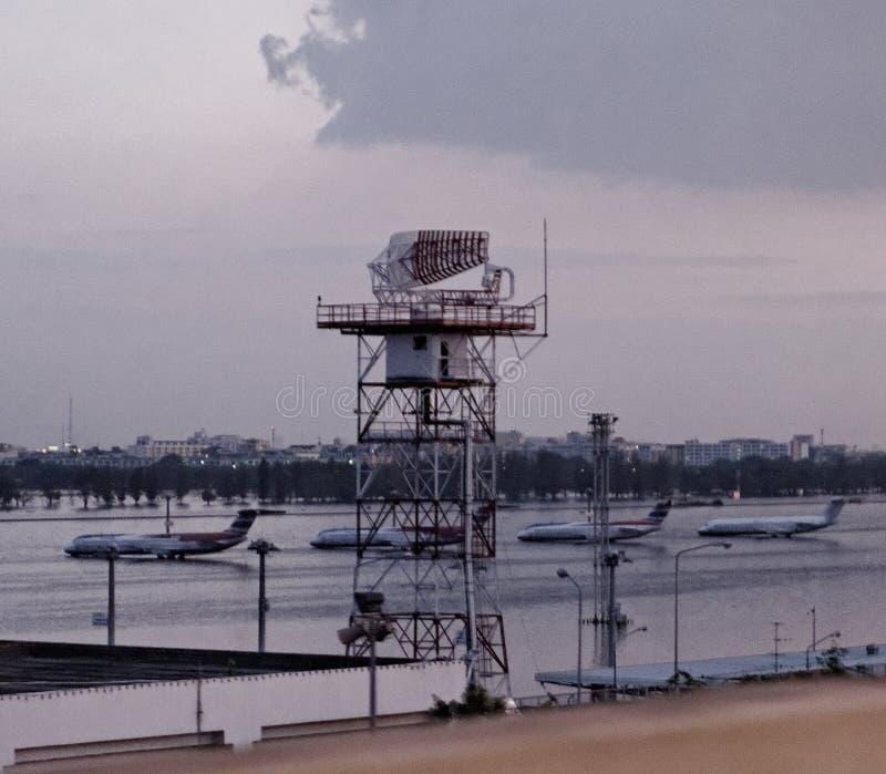 авиапорт затопил Таиланд стоковые изображения