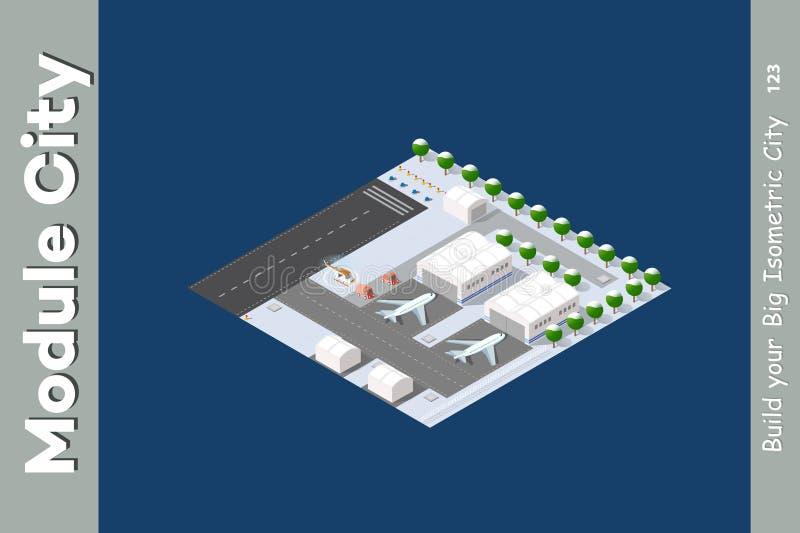 Авиапорт зимы равновеликий бесплатная иллюстрация