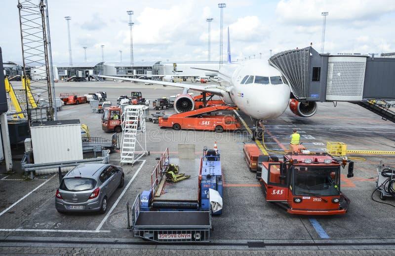 Авиапорт Копенгагена стоковые фотографии rf