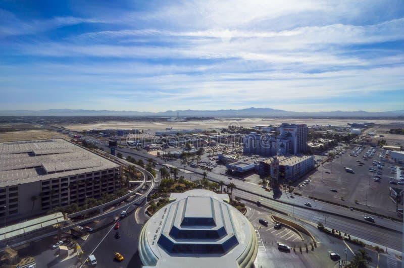 Авиапорт Лас-Вегас McCarran - вид с воздуха - ЛАС-ВЕГАС - НЕВАДА - 12-ое октября 2017 стоковая фотография rf