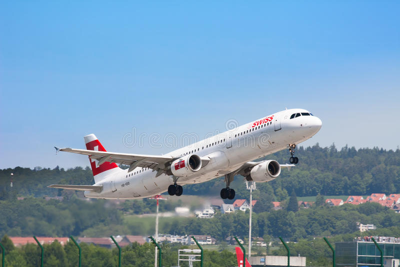 Авиапорт Цюриха стоковые изображения rf