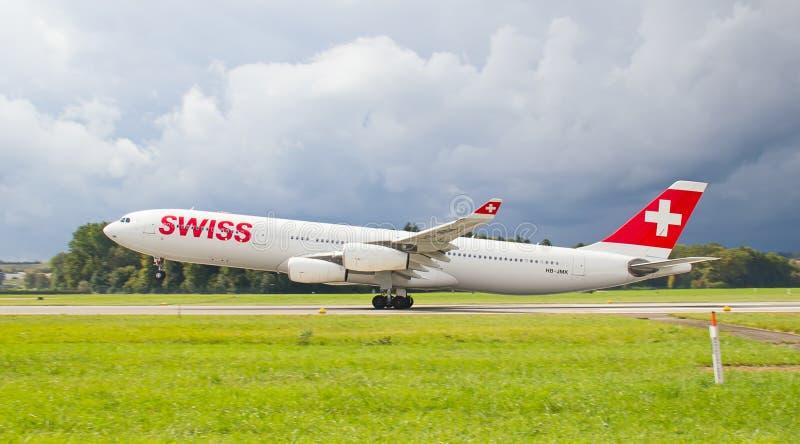 Авиапорт Цюриха стоковое изображение rf