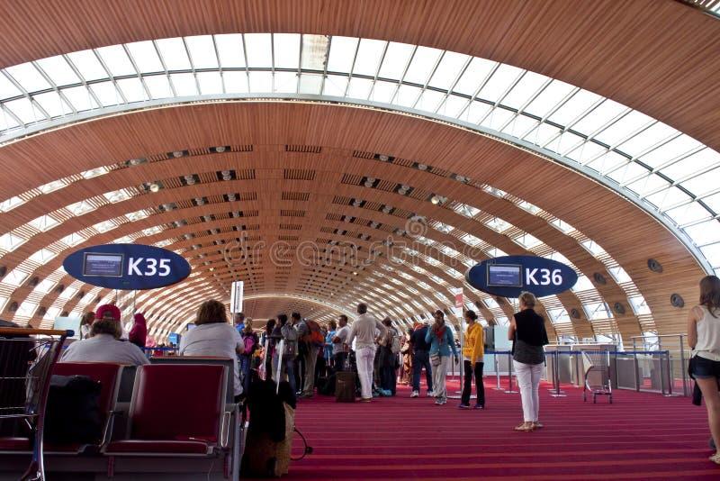 авиапорт Шарль де Голль, Париж стоковые фото