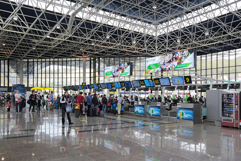 Авиапорт Adler стоковые фотографии rf