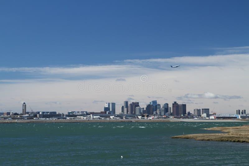 авиапорт boston logan стоковое фото