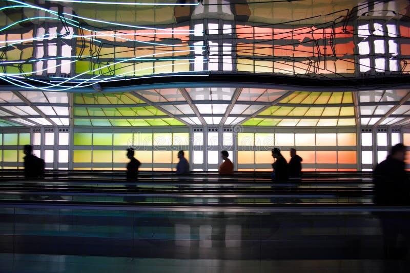 авиапорт chicago стоковая фотография