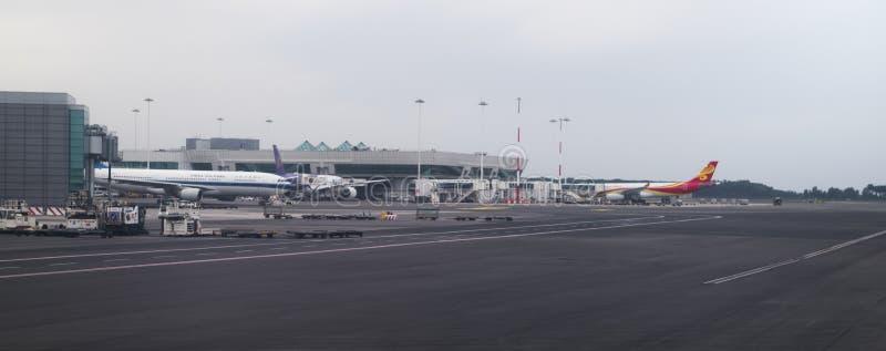 Авиапорт Fiumicino Сделанная подготовка для полета стоковые фото