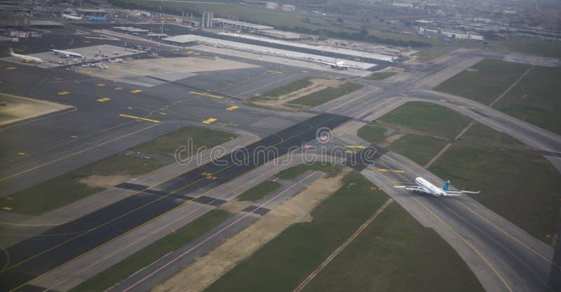 Авиапорт Fiumicino Сделанная подготовка для полета стоковая фотография