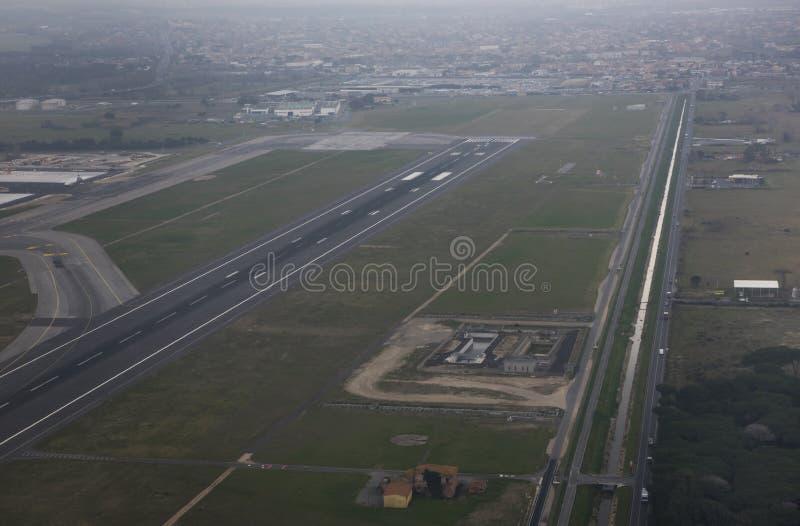 Авиапорт Fiumicino Сделанная подготовка для полета стоковые изображения