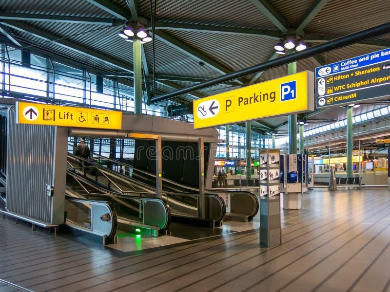 Авиапорт Schiphol Амстердама, Голландия стоковое фото