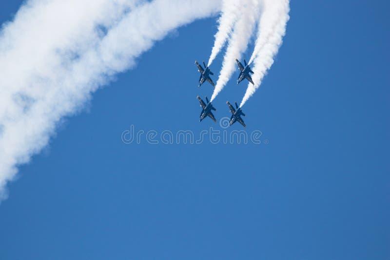 Авиасалон Myrtle Beach Южной Каролины с голубыми ангелами стоковые фото
