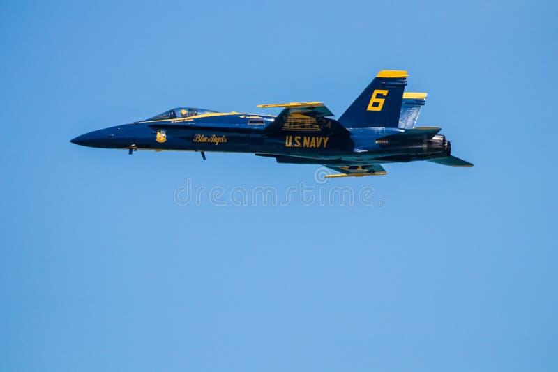 Авиасалон Myrtle Beach Южной Каролины с голубыми ангелами стоковое фото