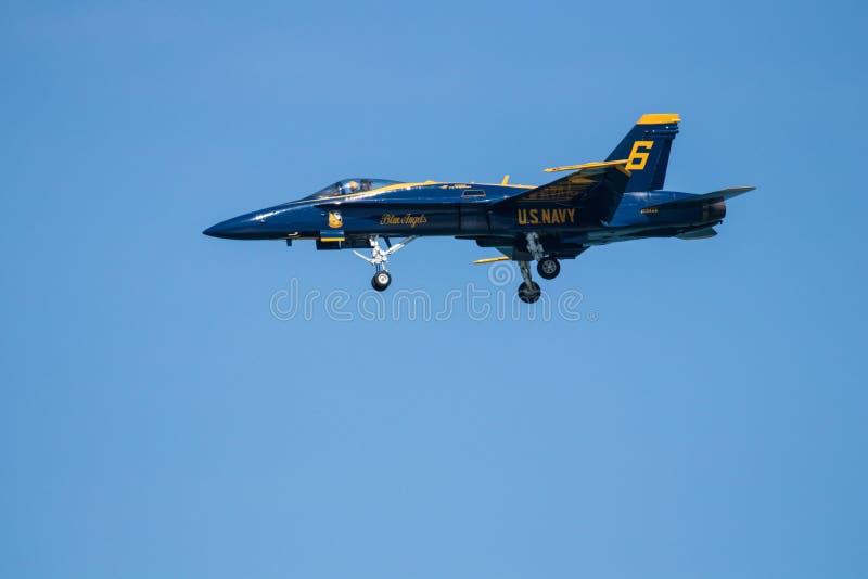 Авиасалон Myrtle Beach Южной Каролины с голубыми ангелами стоковое изображение