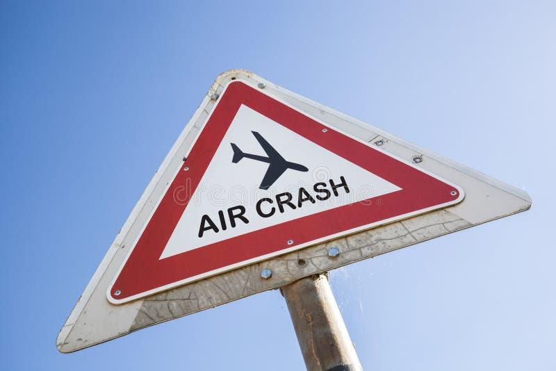 Авиационная катастрофа стоковая фотография rf